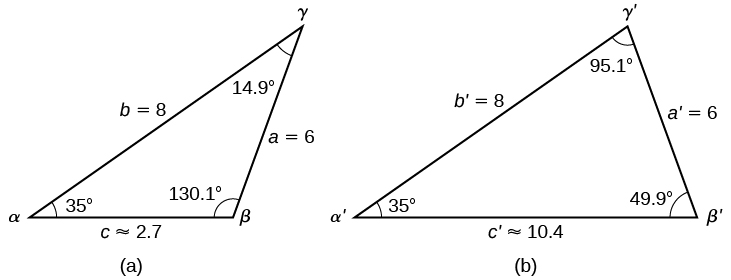 Non right triangles law of sines algebra and trigonometry there are two triangles with standard labels triangle a is the orginal triangle it publicscrutiny Images