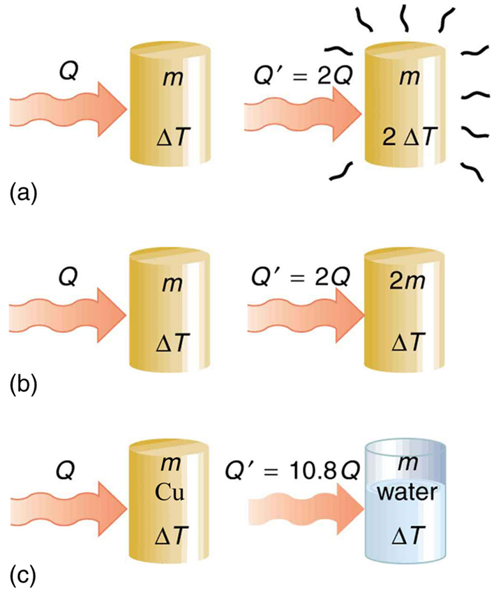 Temperature Change and Heat Capacity · Physics