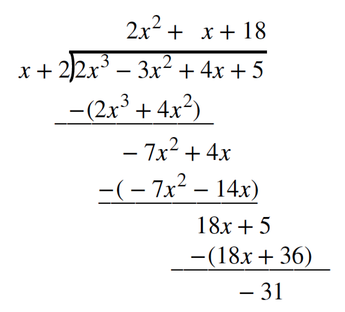 Using Synthetic Division To Divide Polynomials