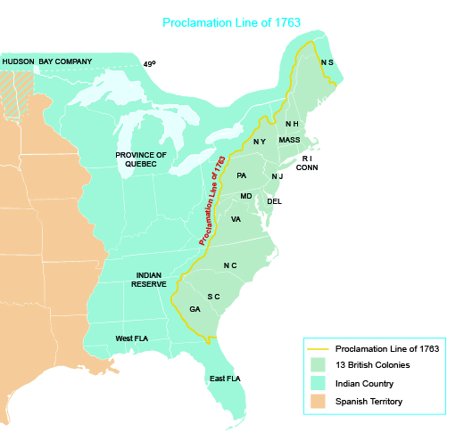 a map shows the locations of the thirteen british colonies of machusetts new hampshire