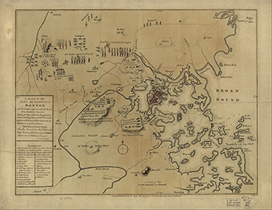 This 1779 Map Shows Details Of The British And Patriot Troops In And Around Boston Massachusetts At The Beginning Of The War