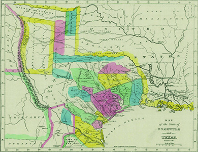 A Historical Map Enled Map Of Coahuila And Texas In 1833 Indicates
