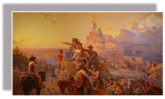 an introduction to the history of the westward expansion A painting of westward expansion shows pioneer men, women, children, and  mountain guides widely held rhetoric of the nineteenth century suggested to.