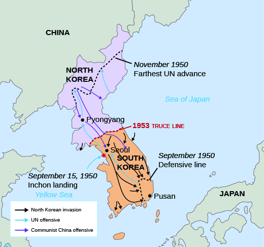 a map of north and south korea bordered by china to the north the